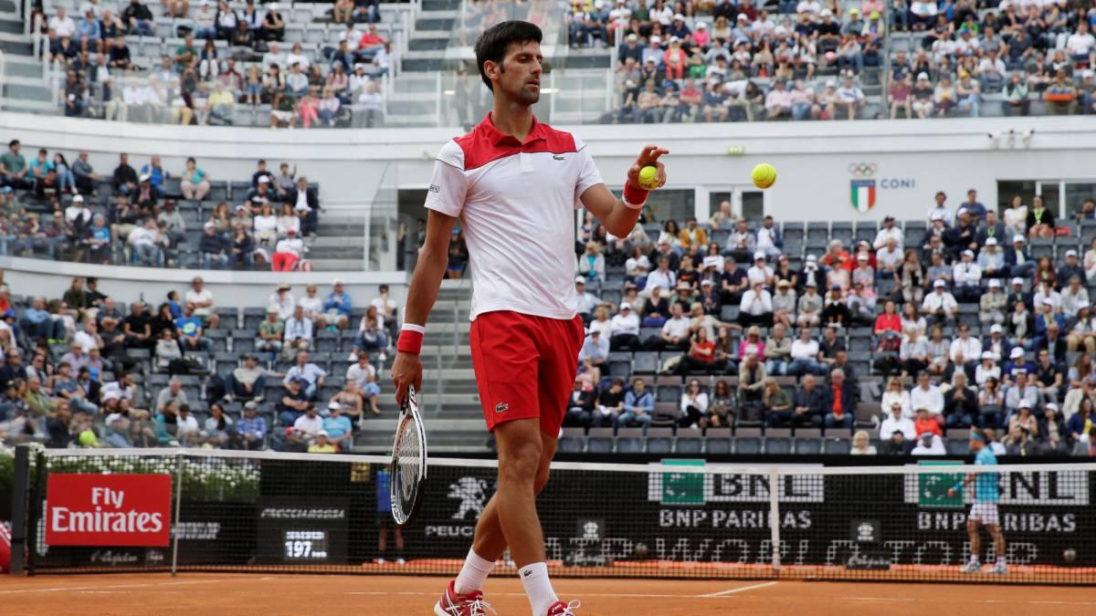 Roma le sienta bien a Novak Djokovic